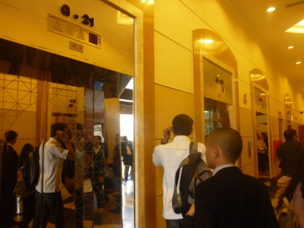 Mirrored Elevators