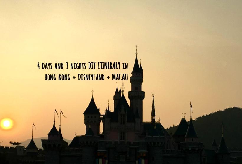 4 Days And 3 Nights Diy Itinerary In Hongkong And Macau